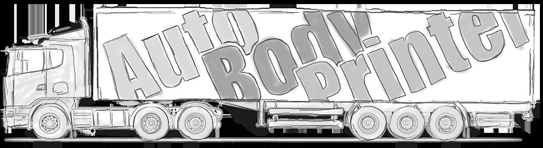 トラックの車体にペイントします。